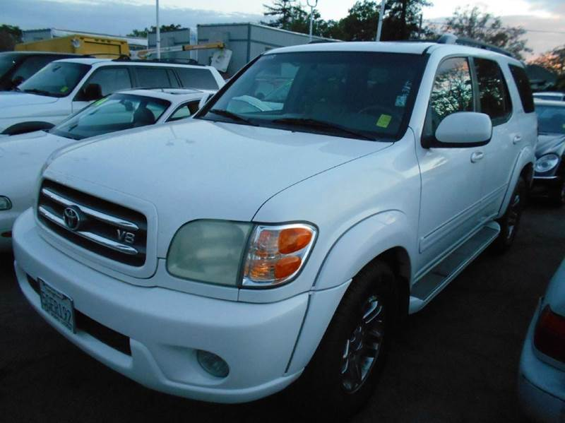 2004 TOYOTA SEQUOIA LIMITED 4DR SUV white abs - 4-wheel antenna type - power anti-theft system