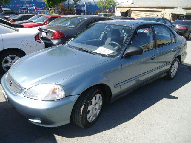 2000 HONDA CIVIC VP blue front air conditioning front airbags - dual in-dash cd - single disc p