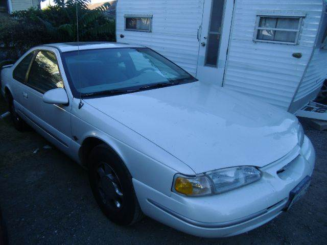 1997 FORD THUNDERBIRD LX 2DR COUPE white cassette center console cruise control exterior mirro