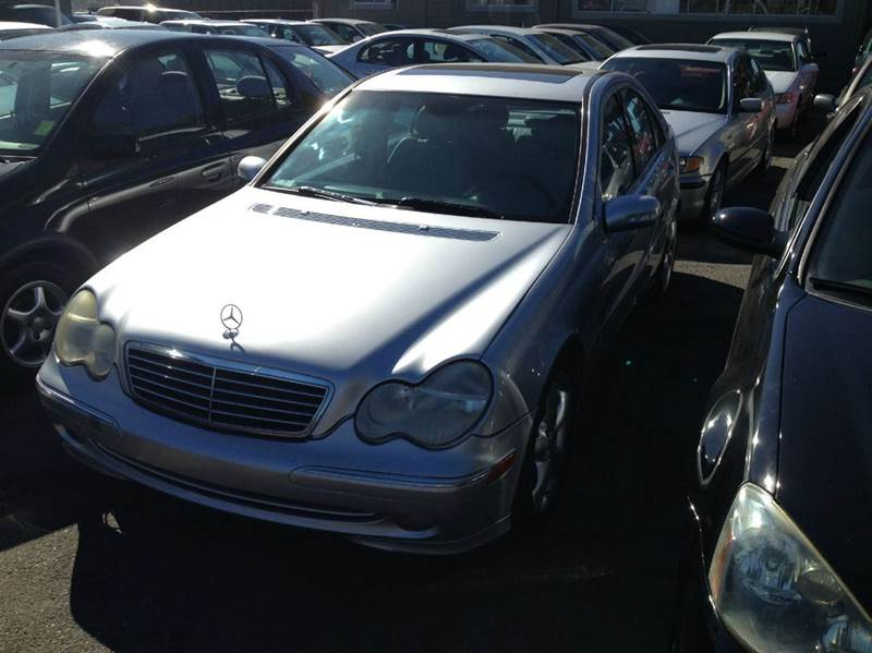 2004 MERCEDES-BENZ C-CLASS C230 KOMPRESSOR 4DR SEDAN siver abs - 4-wheel anti-theft system - ala