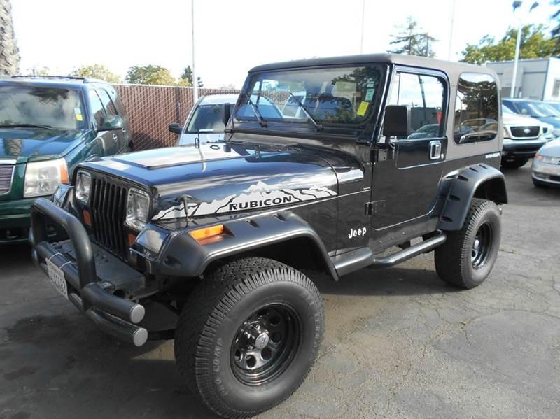 1991 JEEP WRANGLER RUBICON HARD TOP 4WD black 0 miles VIN 2J4FY2953MJ154855