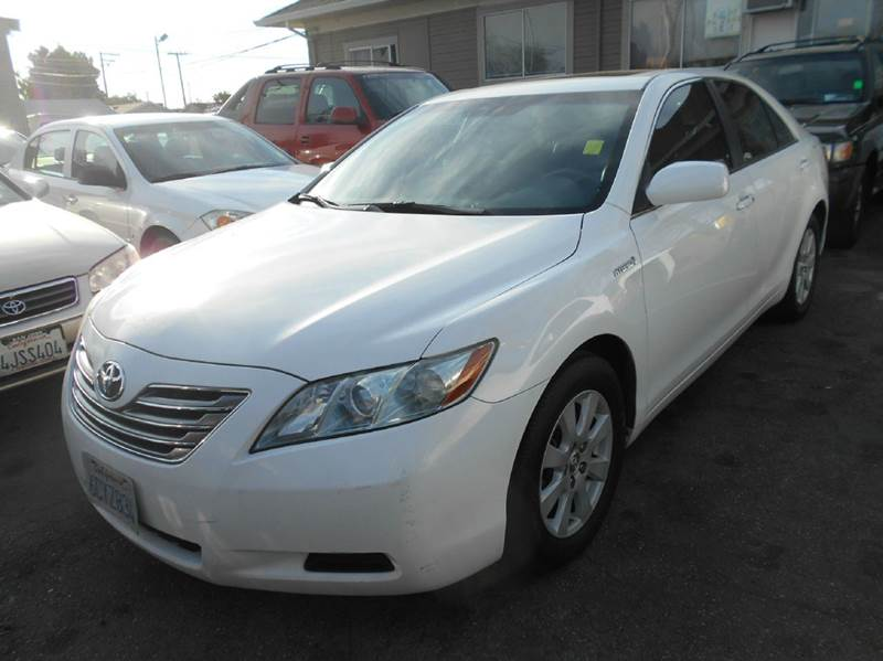 2008 TOYOTA CAMRY HYBRID BASE 4DR SEDAN white 2-stage unlocking doors abs - 4-wheel air filtrat