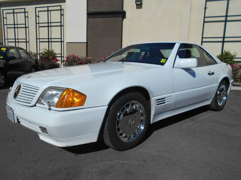 1992 MERCEDES-BENZ 500-CLASS 500SL 2DR CONVERTIBLE white abs - 4-wheel antenna type - power ant