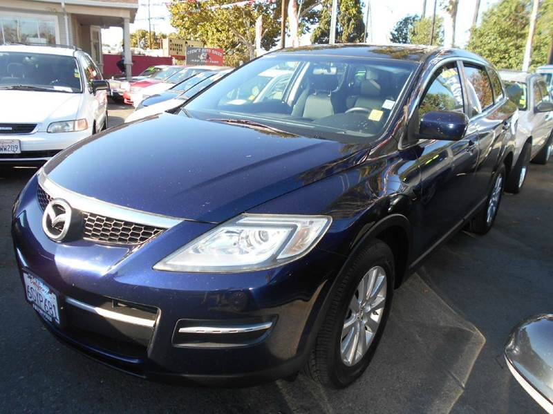 2007 MAZDA CX-9 SPORT AWD 4DR SUV blue 2-stage unlocking - remote 4wd type - on demand abs - 4-