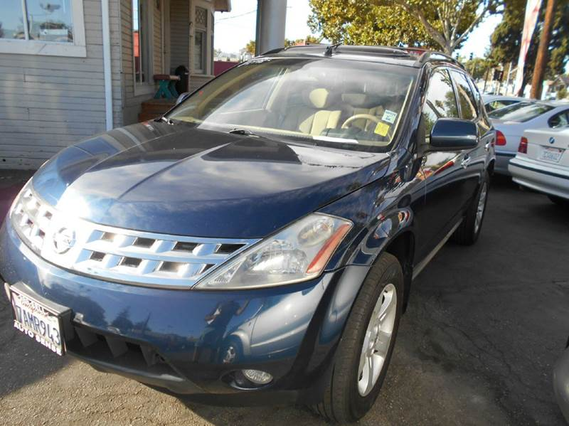 2005 NISSAN MURANO S AWD 4DR SUV blue abs - 4-wheel center console - front console with storage