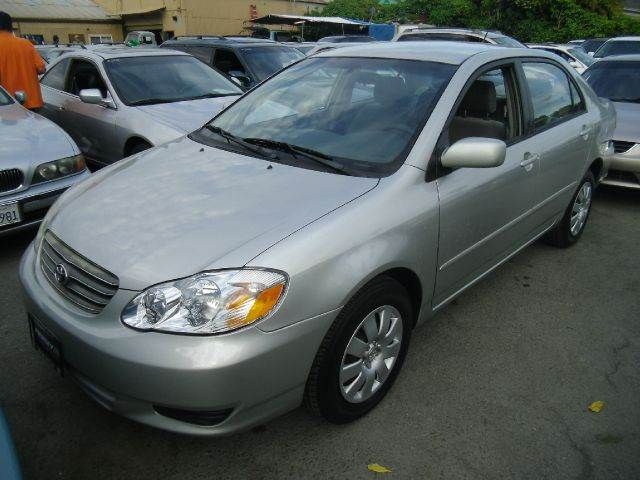 2003 TOYOTA COROLLA LE 4DR SEDAN silver center console clock daytime running lights exterior e