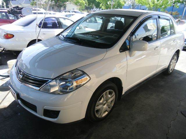 2011 NISSAN VERSA 18 S 4DR EDAN 6M white abs - 4-wheel active head restraint adjustable rear he
