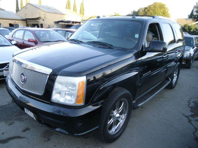 2004 CADILLAC ESCALADE BASE AWD 4DR SUV black abs - 4-wheel adjustable pedals - power anti-thef