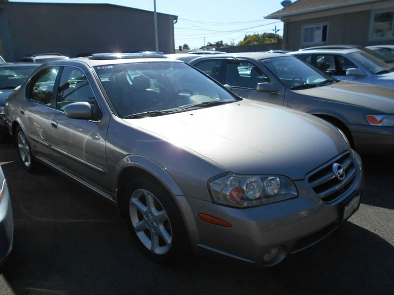 2002 NISSAN MAXIMA SE 4DR SEDAN gray abs - 4-wheel anti-theft system - alarm cassette center c