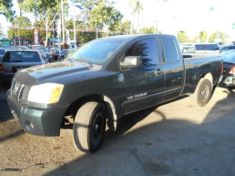 2005 NISSAN TITAN SE 4DR KING CAB RWD SB green abs - 4-wheel anti-theft system - alarm axle rat