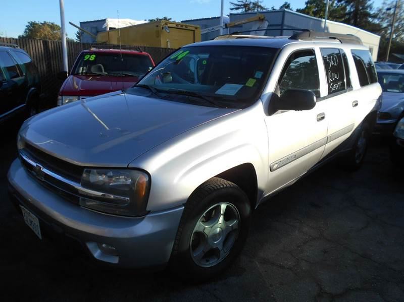 2004 CHEVROLET TRAILBLAZER EXT LS 4WD 4DR SUV silver abs - 4-wheel axle ratio - 342 center con