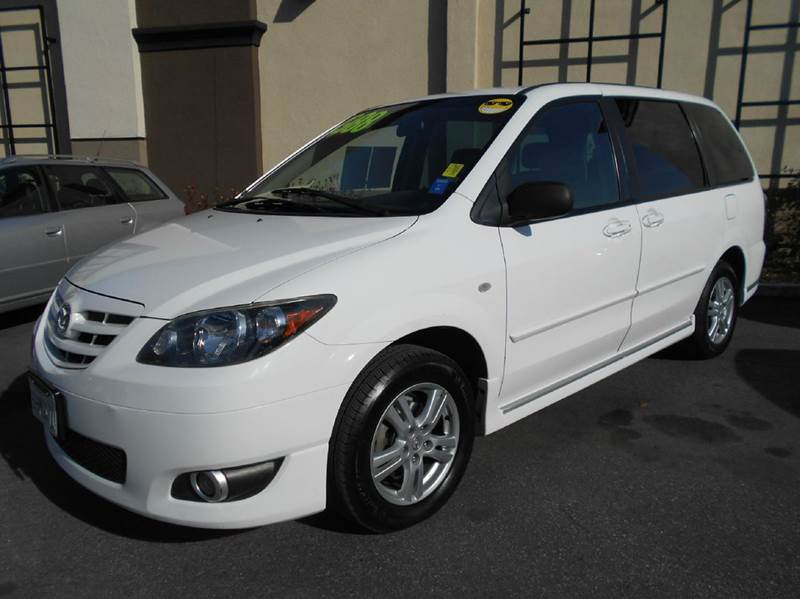 2004 MAZDA MPV LX 4DR MINI VAN white abs - 4-wheel captain chairs - 4 center console clock cr