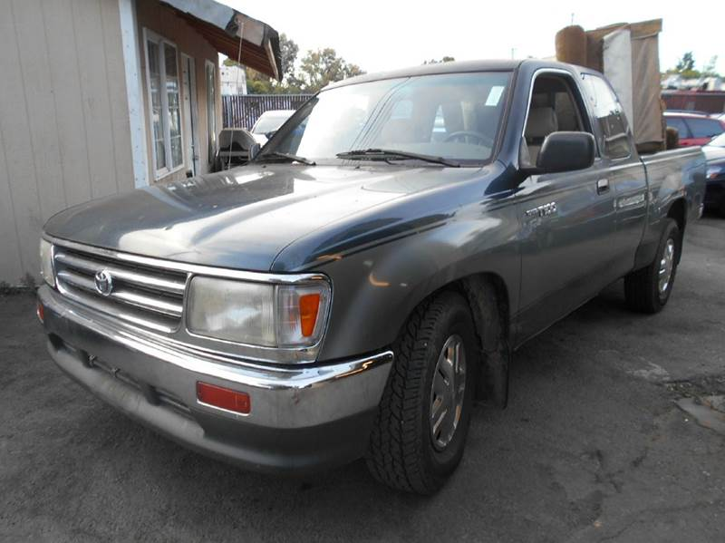 1995 TOYOTA T100 DX 2DR EXTENDED CAB SB green front airbags - driver side front seat type - benc