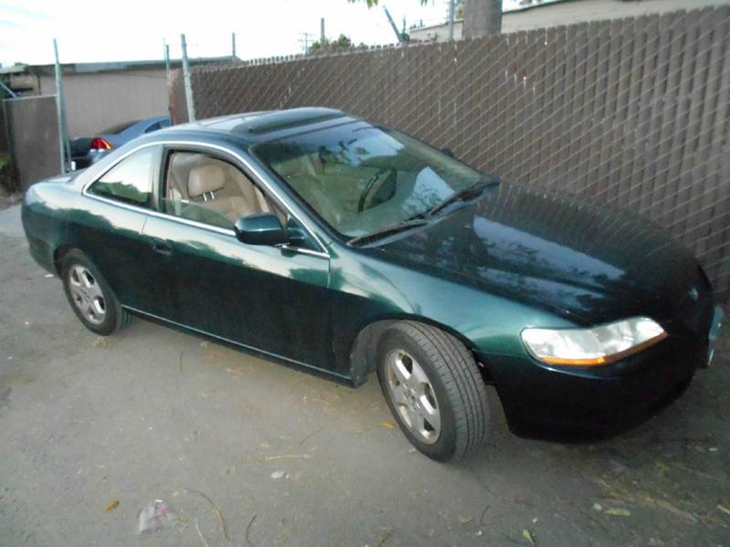 2000 HONDA ACCORD EX V6 2DR COUPE green abs - 4-wheel anti-theft system - alarm center console