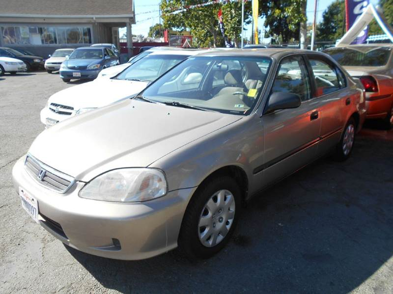 2000 HONDA CIVIC LX 4DR SEDAN silver alloy wheels center console cruise control front air cond