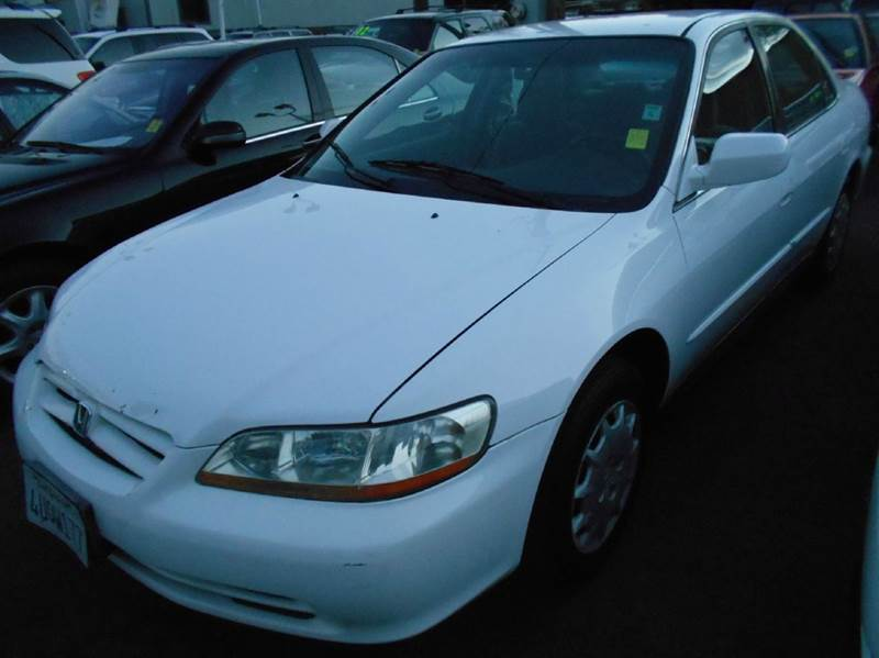 2001 HONDA ACCORD LX 4DR SEDAN white anti-theft system - alarm center console clock cruise con