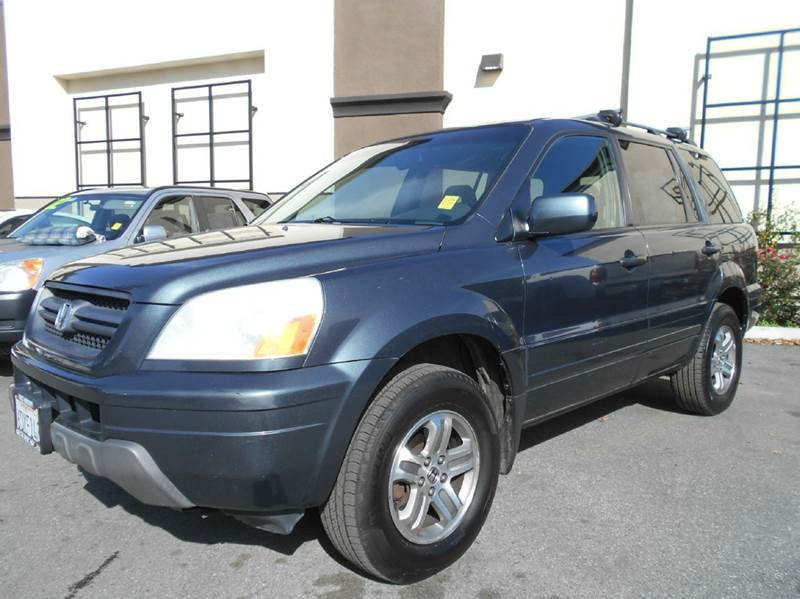 2004 HONDA PILOT EX-L 4DR 4WD SUV WLEATHER AND E charcoal 4wd type - on demand abs - 4-wheel a
