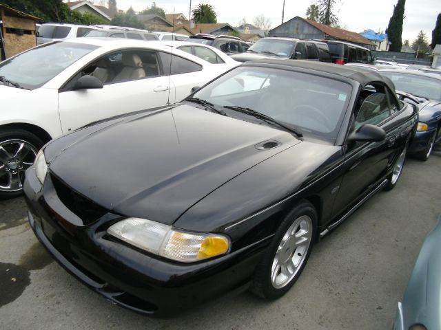 1998 FORD MUSTANG GT 2DR CONVERTIBLE black cassette center console driver seat power adjustments