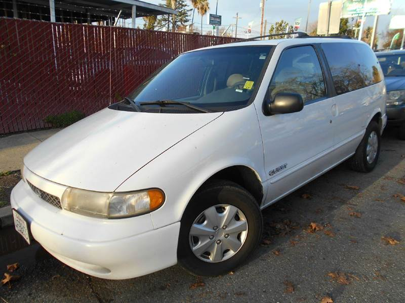 1998 NISSAN QUEST XE 3DR MINI VAN white anti-theft system - alarm cassette center console cloc