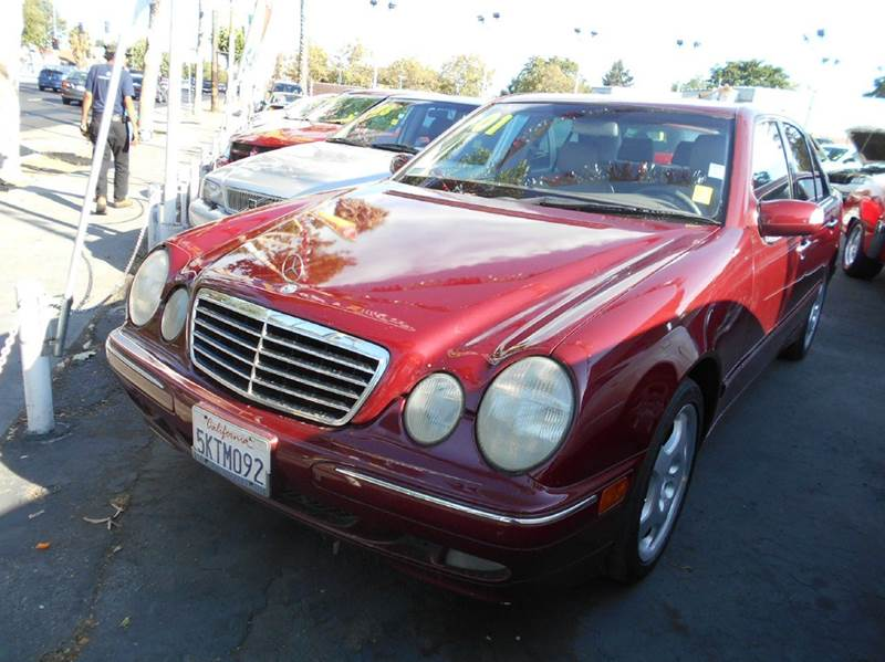 2001 MERCEDES-BENZ E-CLASS E430 4DR SEDAN maroon abs - 4-wheel anti-theft system - alarm casset