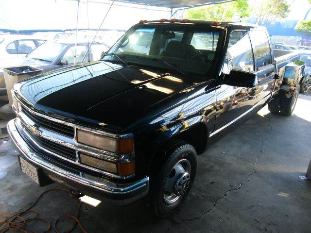 1997 CHEVROLET CK 3500 SERIES CREW CAB 2WD black abs brakesanti-brake system 2-wheel absbody s