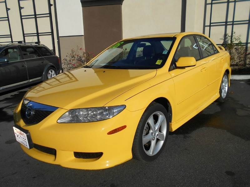 2003 MAZDA MAZDA6 I 4DR SEDAN yellow center console clock cruise control exterior entry lights
