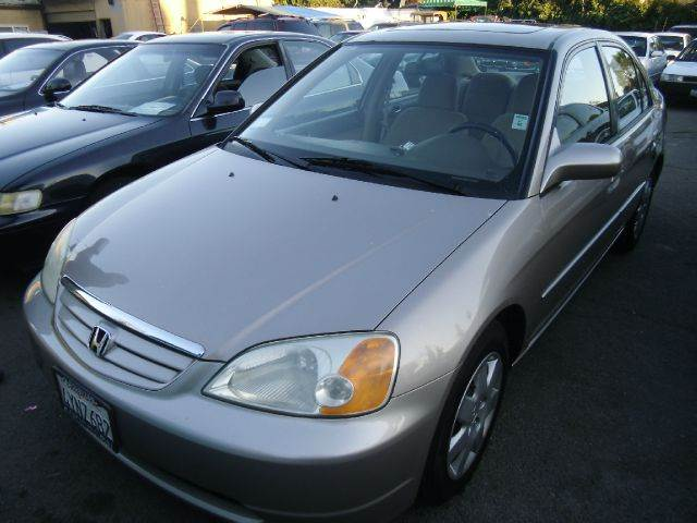 2002 HONDA CIVIC EX SEDAN silver abs brakesair conditioningamfm radioanti-brake system 4-whee