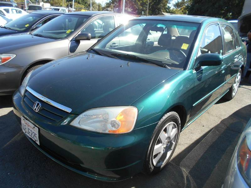 2001 HONDA CIVIC EX green air conditioning amfm radio wcd player anti-lock brakes cruise con