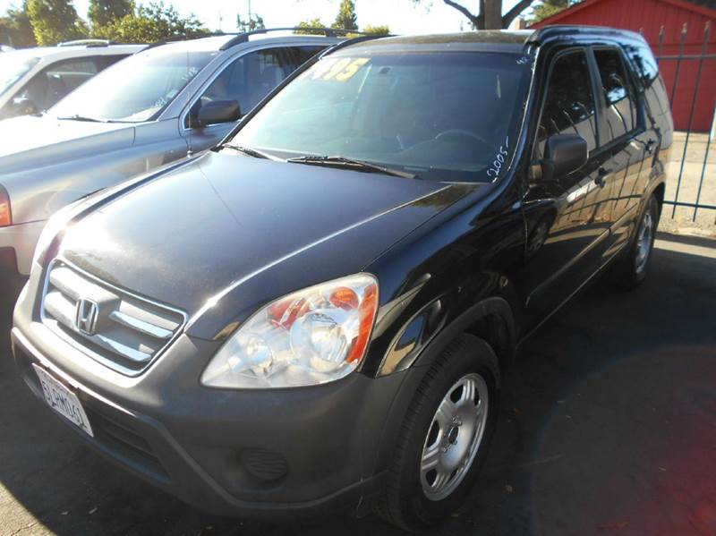 2005 HONDA CR-V LX 4DR SUV black abs - 4-wheel cassette center console - front console with sto