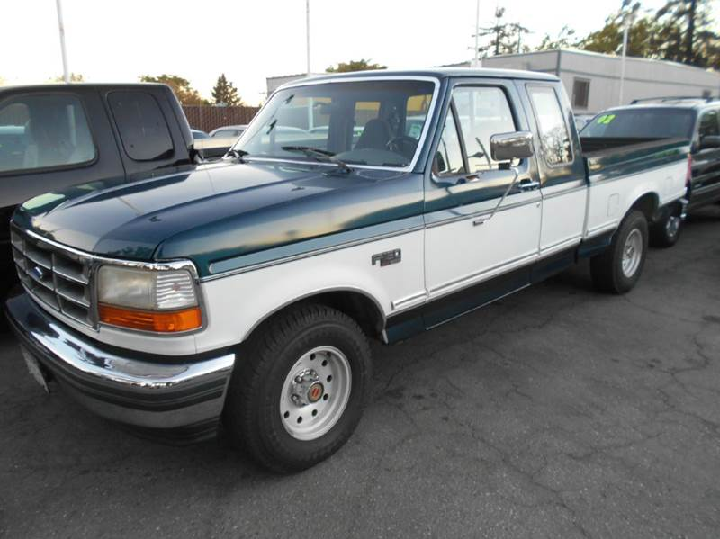 1994 FORD F-150 XLT 2DR EXTENDED CAB SB green abs - rear auxiliary gas tank clock cruise contr