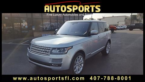 2016 Land Rover Range Rover for sale in Casselberry, FL