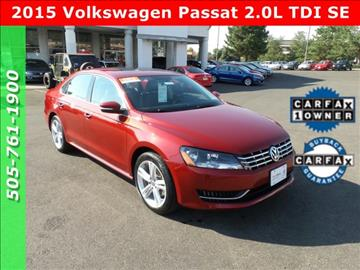 2015 Volkswagen Passat for sale in Albuquerque, NM