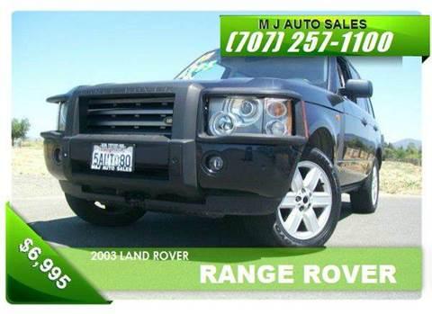 2003 Land Rover Range Rover for sale in Napa, CA