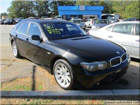 2002 BMW 7 Series for sale in Commerce, GA