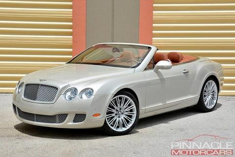2010 Bentley Continental GTC Speed for sale in West Palm Beach, FL