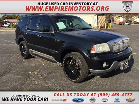 2003 Lincoln Aviator for sale in Montclair, CA