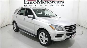 Mercedes benz m class for sale maryland for Exclusive motor cars baltimore md