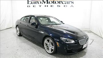 2015 BMW 6 Series for sale in Bethesda, MD