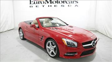 Mercedes benz sl class for sale for Euro motors bethesda maryland