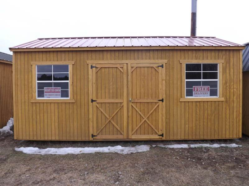 2015 zf old hickory buildings storage sheds 10 x 20 side for Side storage shed