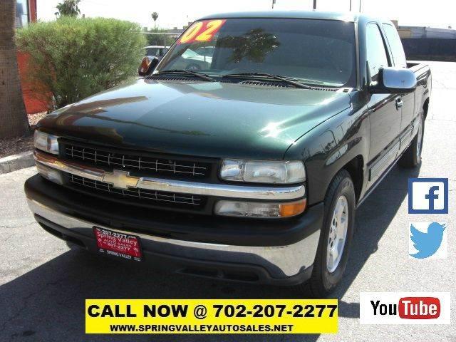 Used Cars in Las Vegas 2002 Chevrolet Silverado 1500