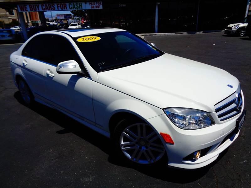 2009 MERCEDES-BENZ C-CLASS C300 SPORT 4DR SEDAN white clean carfax california vehicle luxur