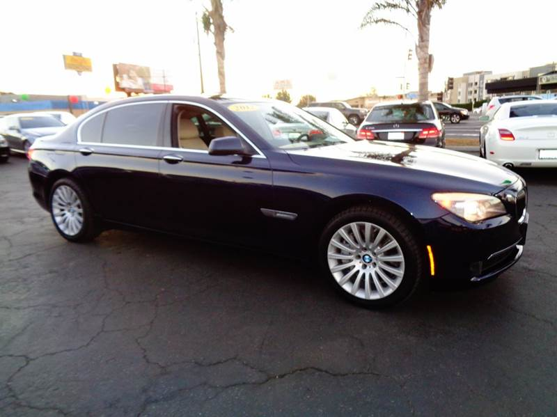 2012 BMW 7 SERIES 750LI 4DR SEDAN dark blue clean carfax  california vehicle  navigation