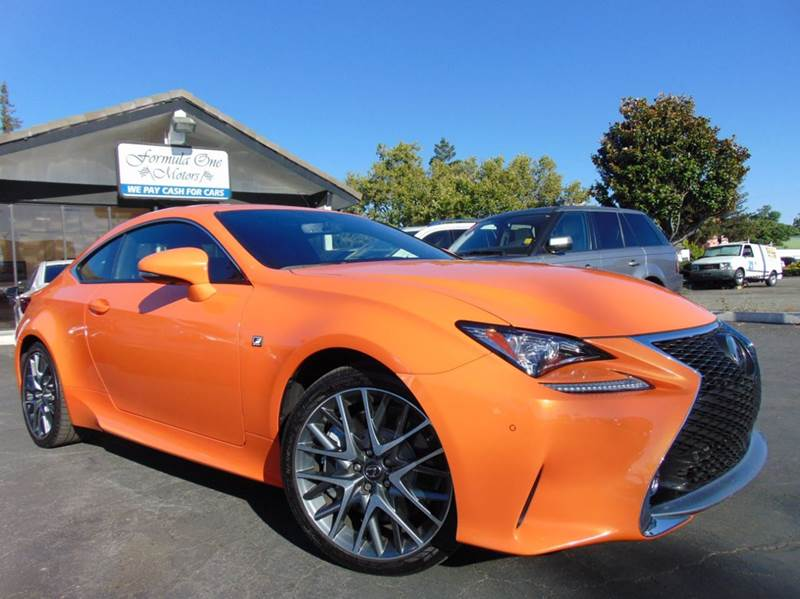 2015 LEXUS RC 350 F SPORT orange one ownerclean carfax reportcalifornia vehiclethis le