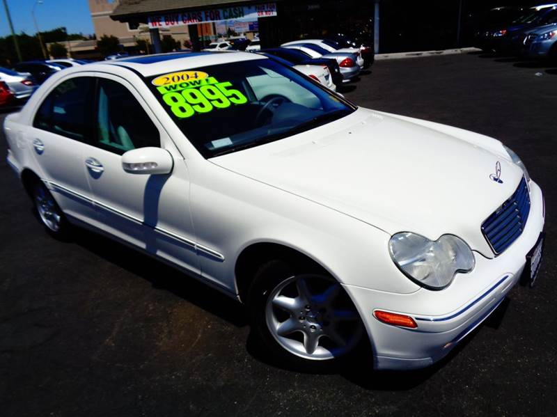 2004 MERCEDES-BENZ C-CLASS C240 4DR SEDAN white abs - 4-wheel anti-theft system - alarm cassett