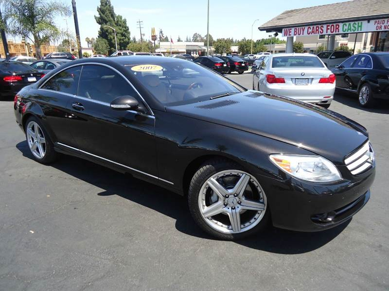 2007 MERCEDES-BENZ CL-CLASS CL550 2DR COUPE black fully loaded cl550 luxury and style naviga