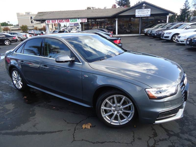 2014 AUDI A4 20T QUATTRO PREMIUM PLUS AWD 4D gray this is a 1 owner vehicle clean carfax premi