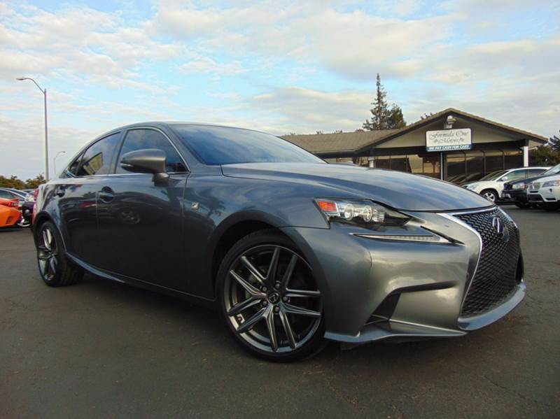 2014 LEXUS IS 250 F SPORT gray clean carfax history report 2-stage unlocking doors abs - 4-wh