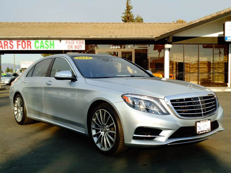 2015 MERCEDES-BENZ S-CLASS S550 4DR SEDAN silver one ownerclean carfax reportcalifornia ve