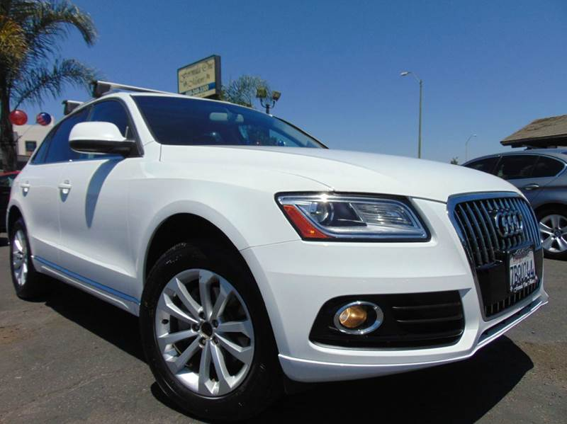 2013 AUDI Q5 20T QUATTRO PREMIUM PLUS AWD 4D white one ownerclean carfax reportcaliforni